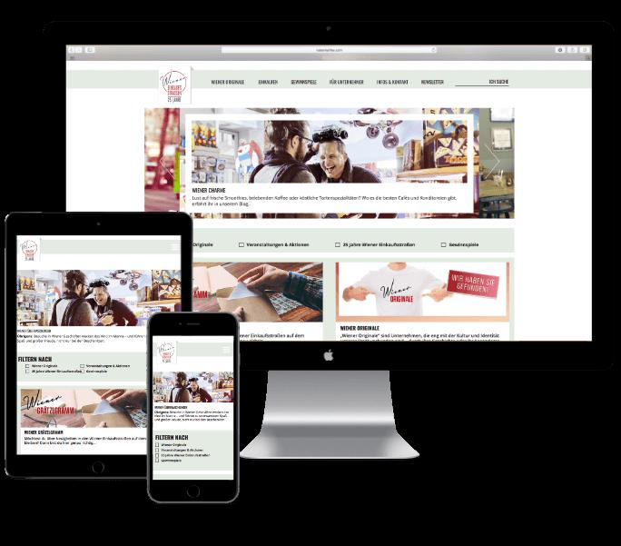 Wiener Einkaufsstraßen Website